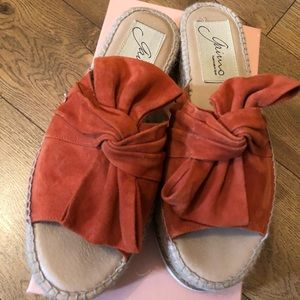 Gaimo Espadrilles (Orange Suede) free people